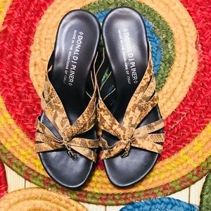Snakeskin Wedge Sandals by Donald J. Pliner NWOT